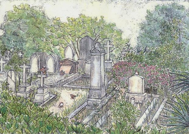 横浜 外人墓地(個展出品作品)