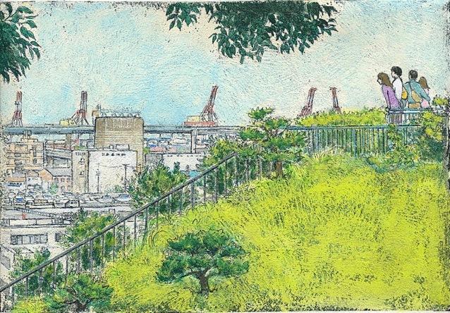 港の見える丘(個展出品作品)